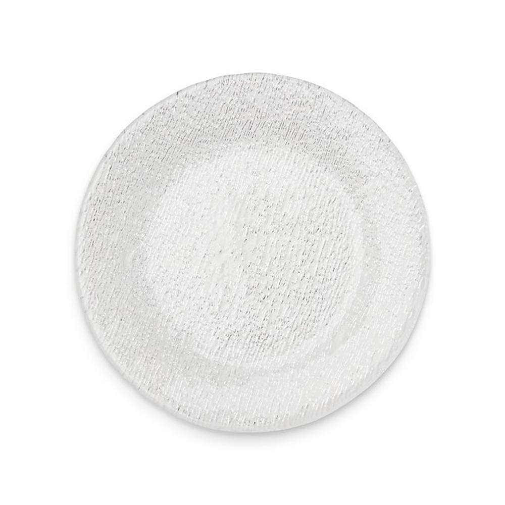 Berkeley Press Glass Dinner Plate - Crate & Barrel, $9.95