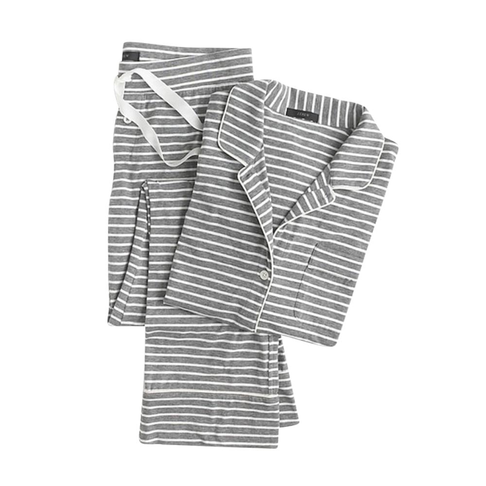 Dreamy cotton pajama set in stripe - J.Crew, $78.00