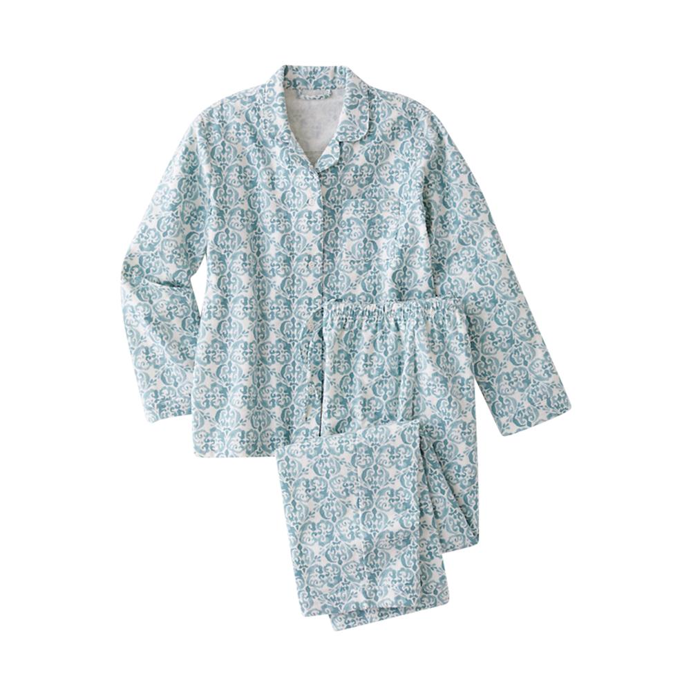 Organic-Cotton Classic Flannel Pajamas - Garnet Hill, $73.00