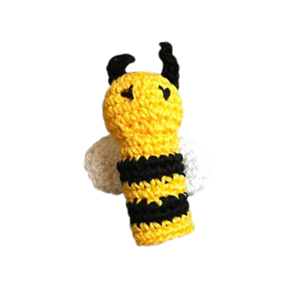 Bee Crochet Finger Puppet - Etsy, $8.27