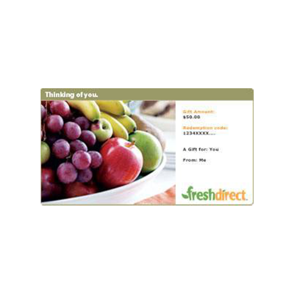 Fresh Direct Gift Card - Fresh Direct, Various