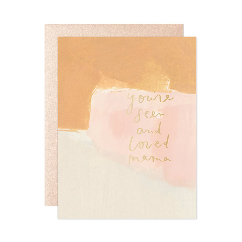Seen & Loved Mama Card - Our Heiday, $5.00