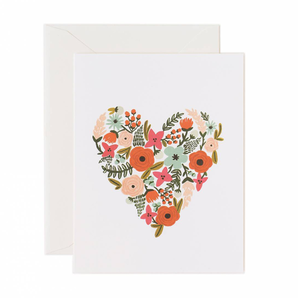 Floral Heart Card - Rifle Paper Co., $5.00