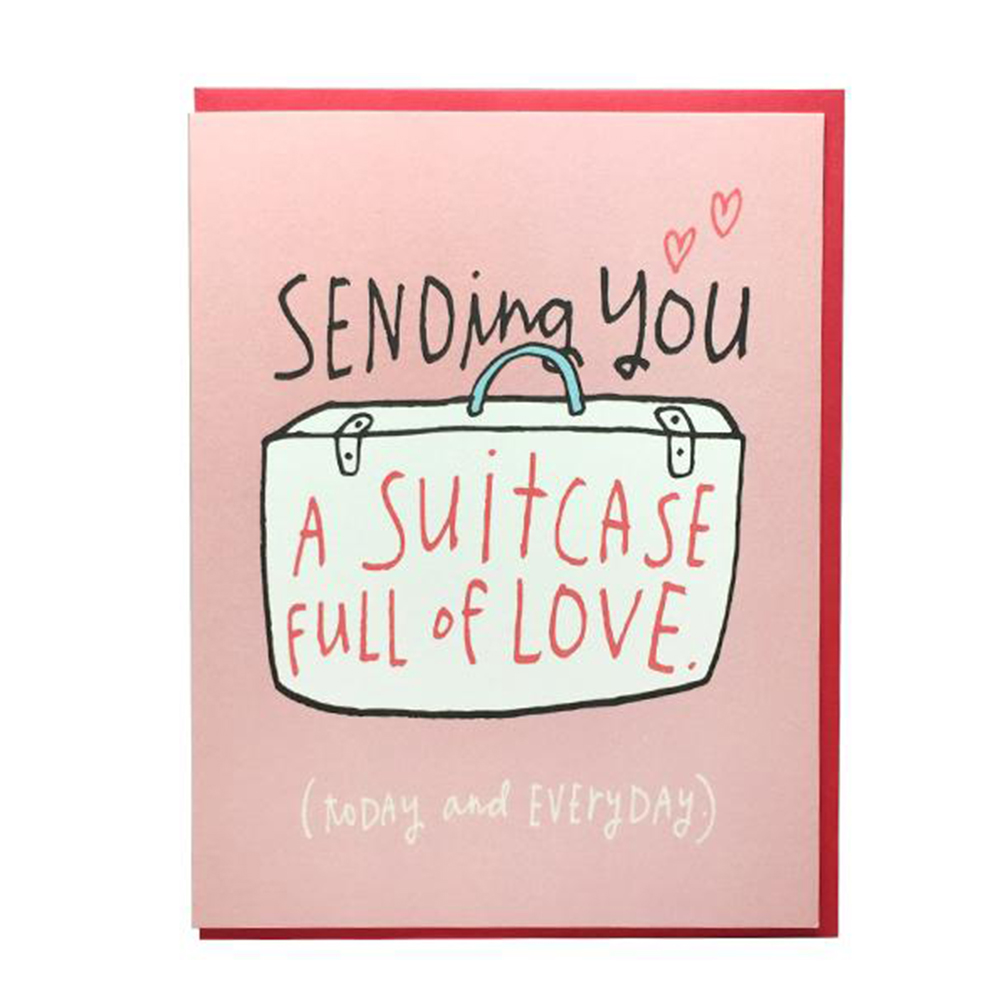 Suitcase Love Card - Big Wheel Press, $4.00