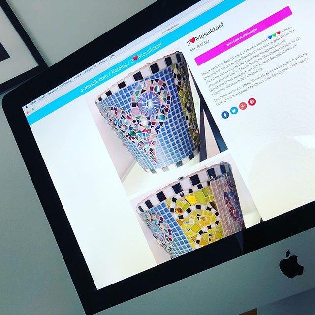 Der Farbenfrohe #Webshop von @amosaik_com ist unser neustes #Webprojekt. Auf @amosaik_com findet man #Handmade #Mosaik #Skulpturen von Judith Odermatt.
