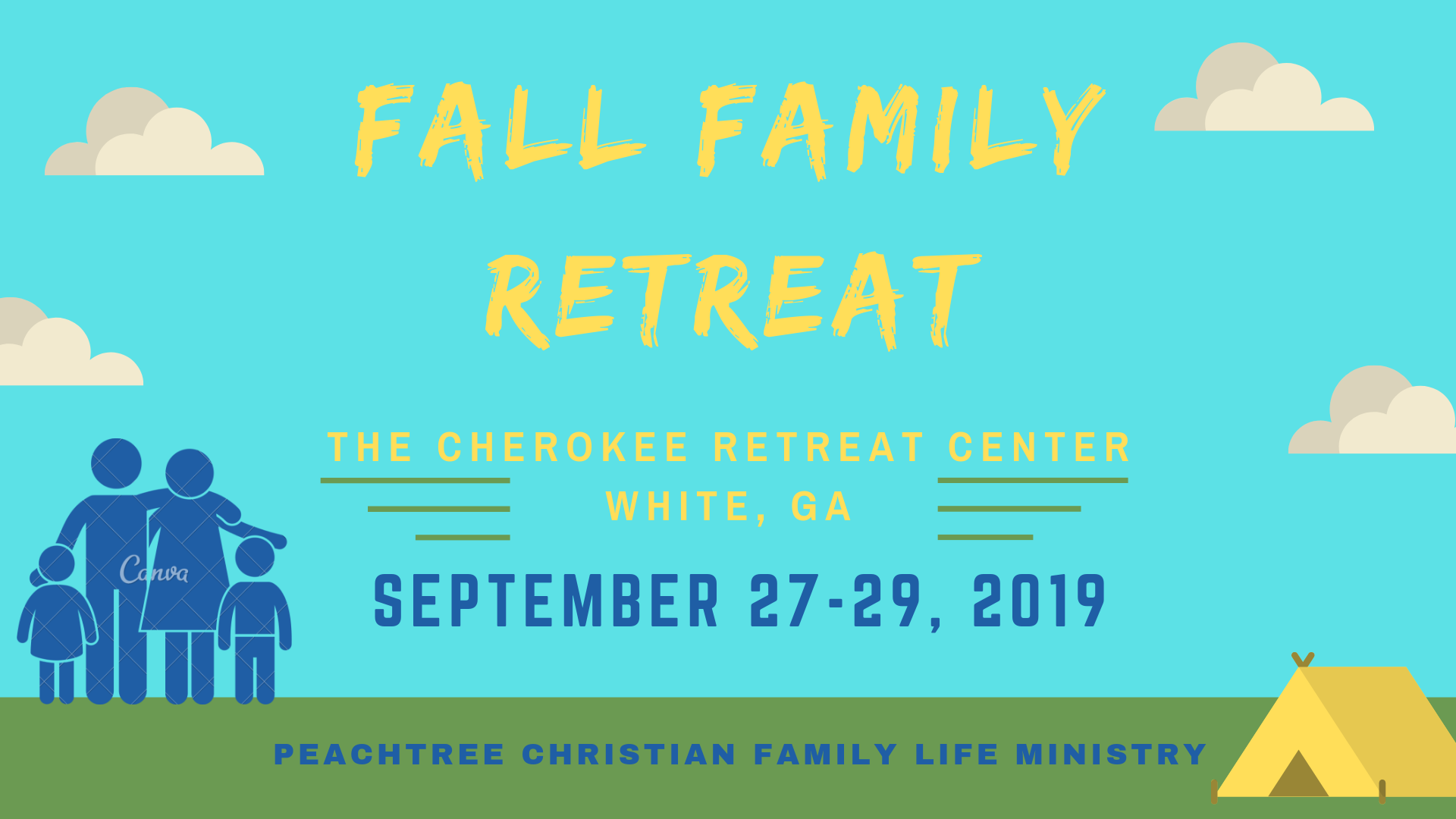 Fall Family Retreat 2019 - September 27-29, 2019Adult: $70Youth (grades 6–12): $70Child (Pre–5th grade): $35Child under 3: Free