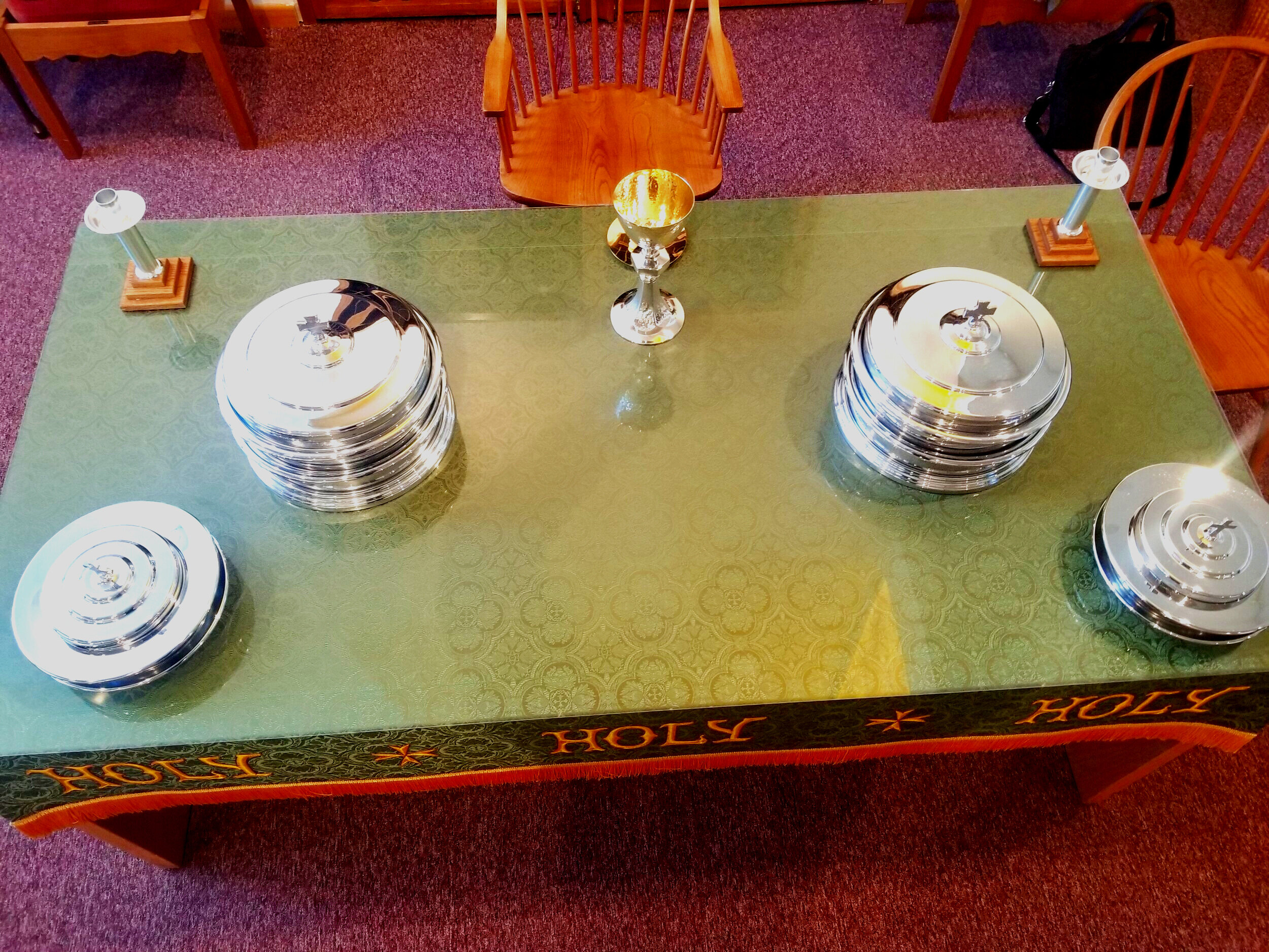 """""""We are Disciples of Christ, a movement for wholeness in a fragmented world. As part of the one body of Christ we welcome all to the Lord's Table as God has welcomed us."""""""