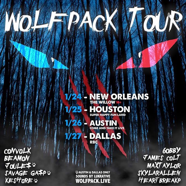 TEXAS TOUR THIS JANUARY 🐺