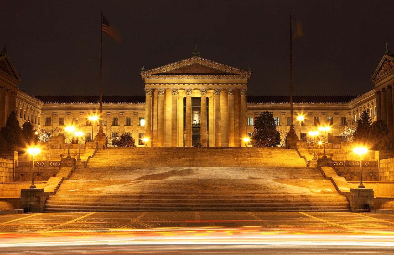 Art Museum Steps Midnight