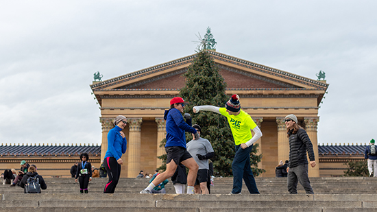 Rocky Steps Shadow Boxing