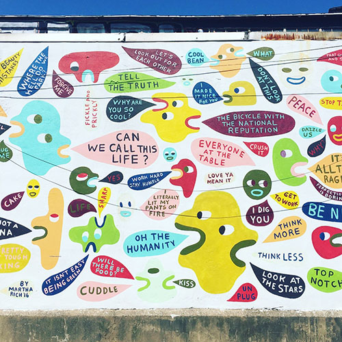 Best Running Tours. Can We Call This Life Mural. SeePhillyRun.