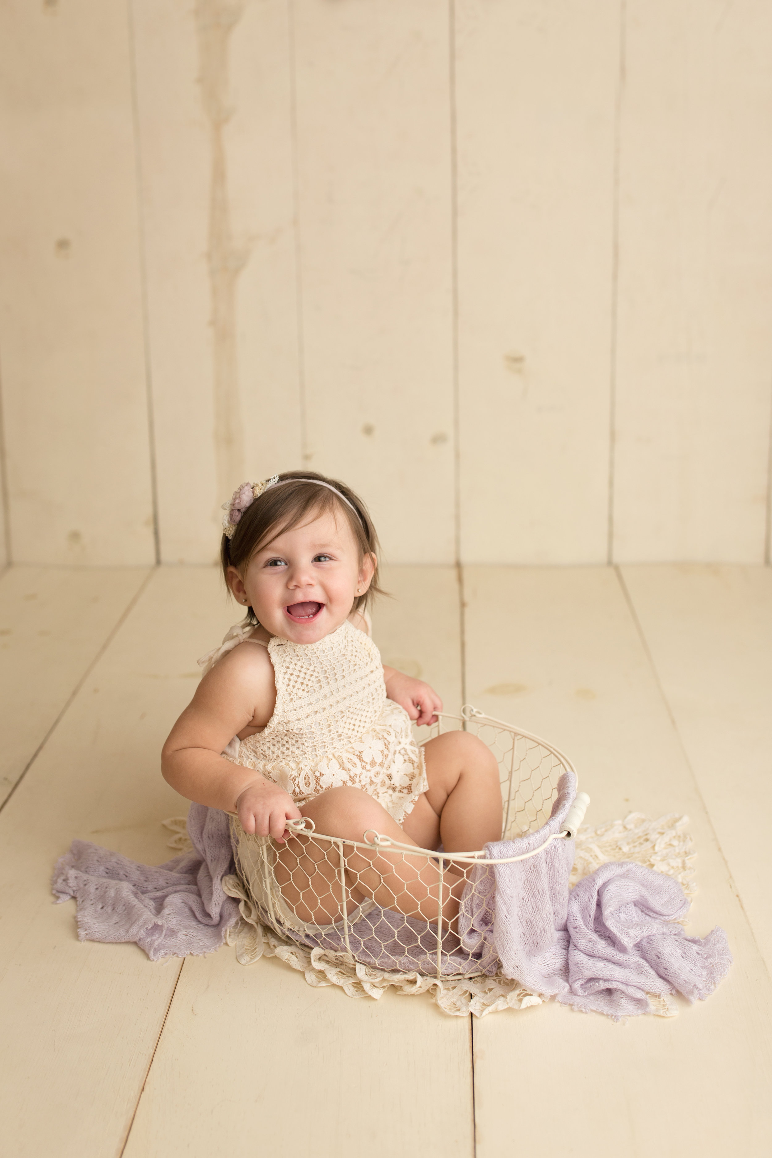 How are you even real? She really loved getting her pictures taken in the basket for some reason. No complaints here!