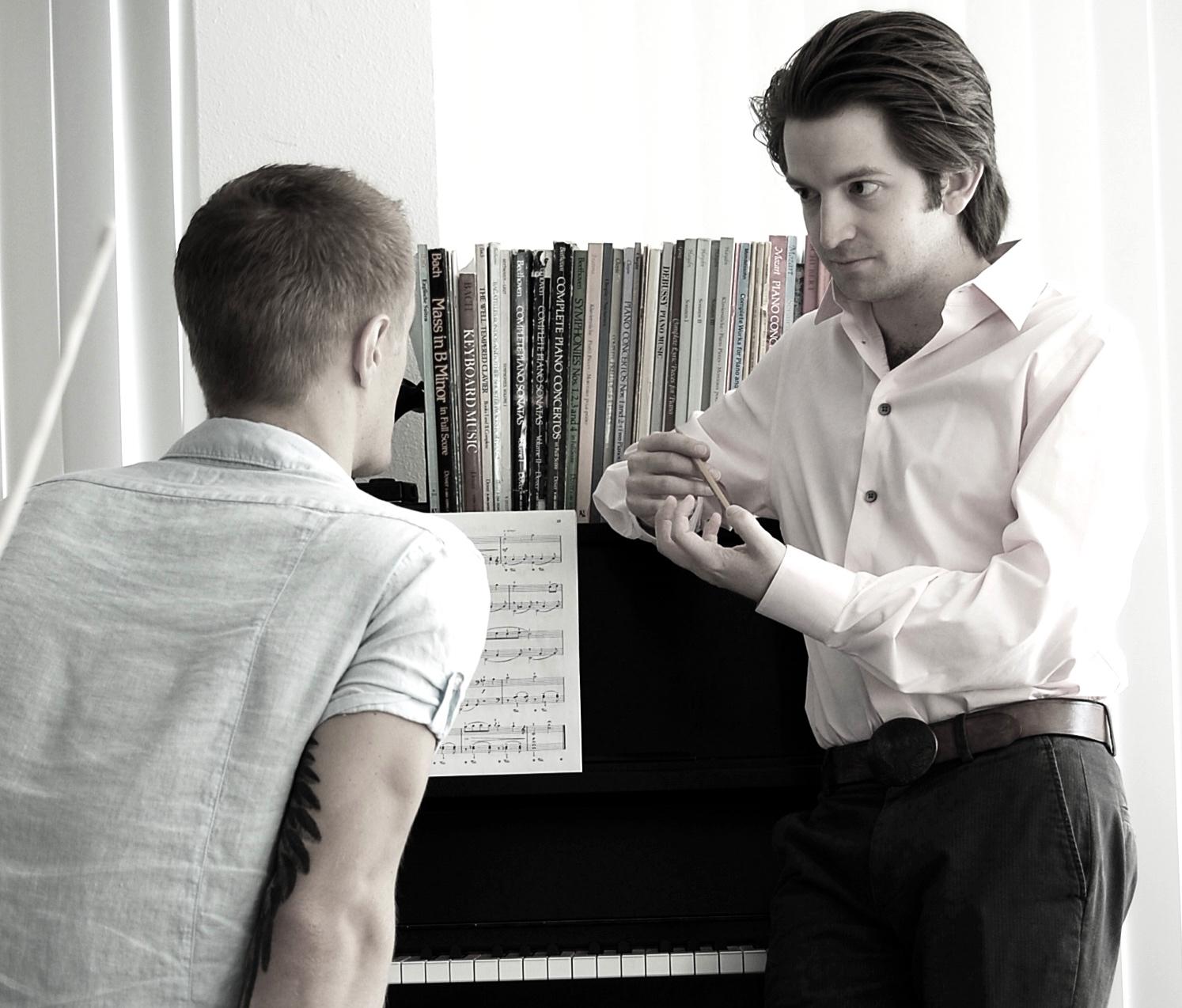 Matthew J Viator teaching Zachary 2010.jpg