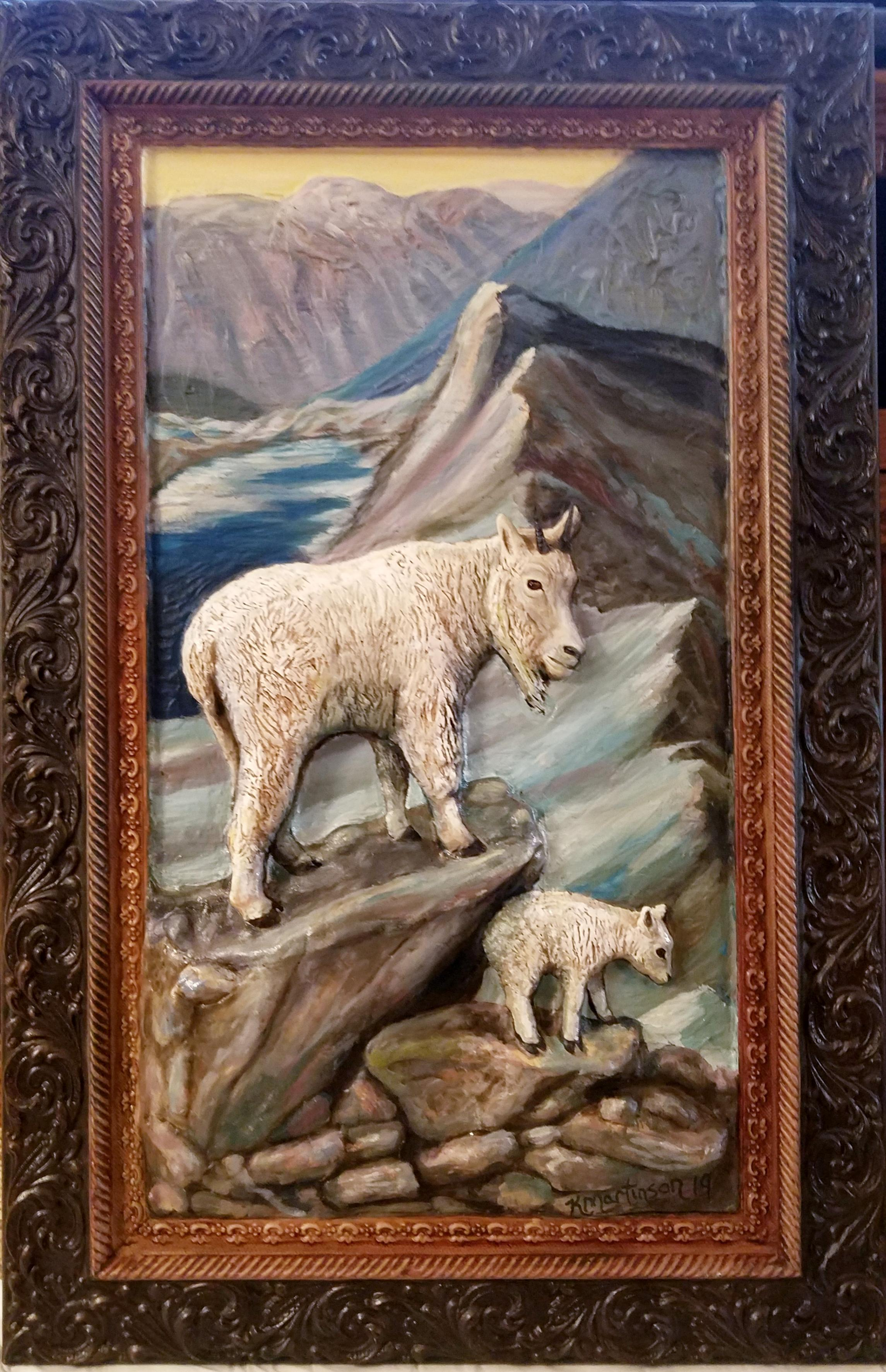3D Goat and Kid a scene from Glacier Park 2019