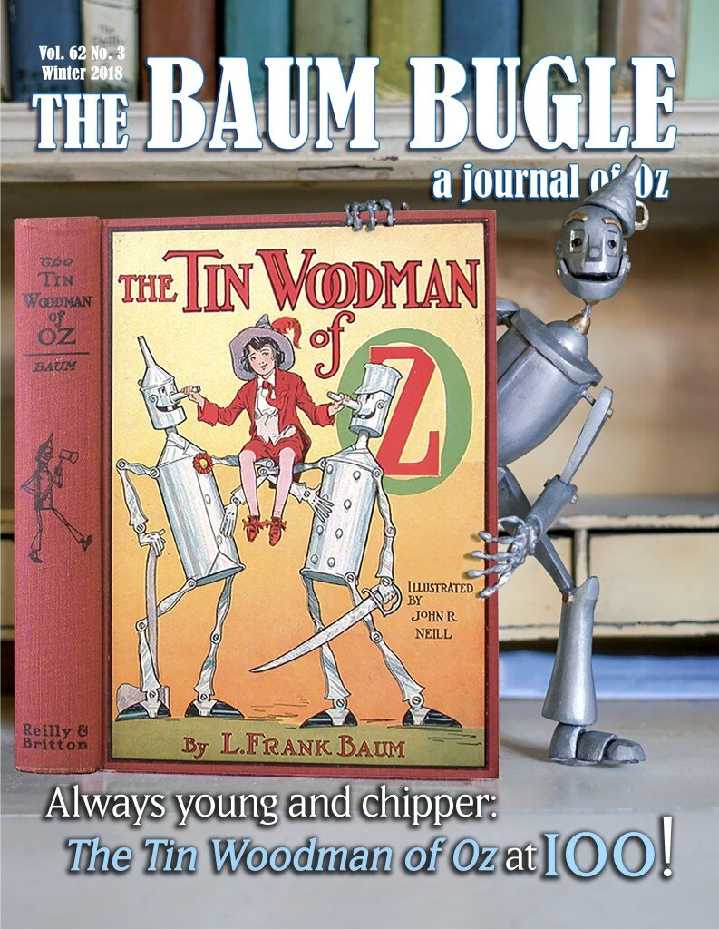 Cover Boy! - Besides appearing on the cover and within the pages of the Baum Bugle Winter issue, Nick and Mattzilla are featured in an 5 way interview with other creators who have used the Tin Woodman from Oz in their work.