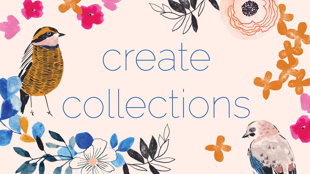 - Registration now closed for my new course, Create Collections, starting Mon, Apr 29th 2019.A five week, online course about creating a collection of cohesive, impactful artwork that impresses and engages art directors. You'll learn how to use your unique taste to tell a visual story, solidify your style and increase the sales potential of your portfolio. Each week you'll receive detailed, informative design briefs plus a bonus planners, checklist and template. Everything is downloadable as PDFs.