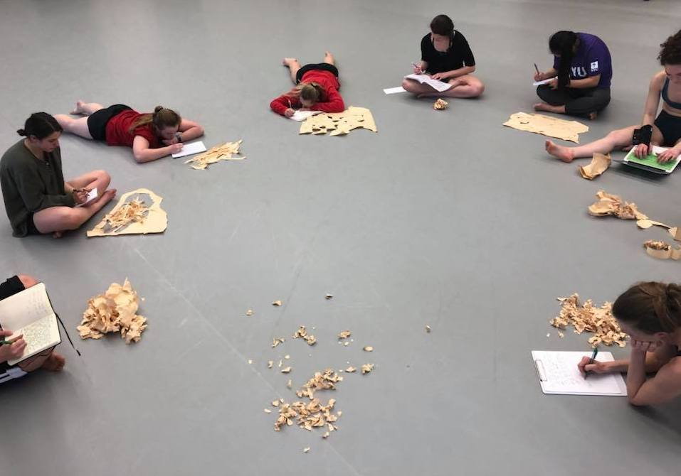 Leading process with University of Wisconsin - Madison Dance Students, 2018.