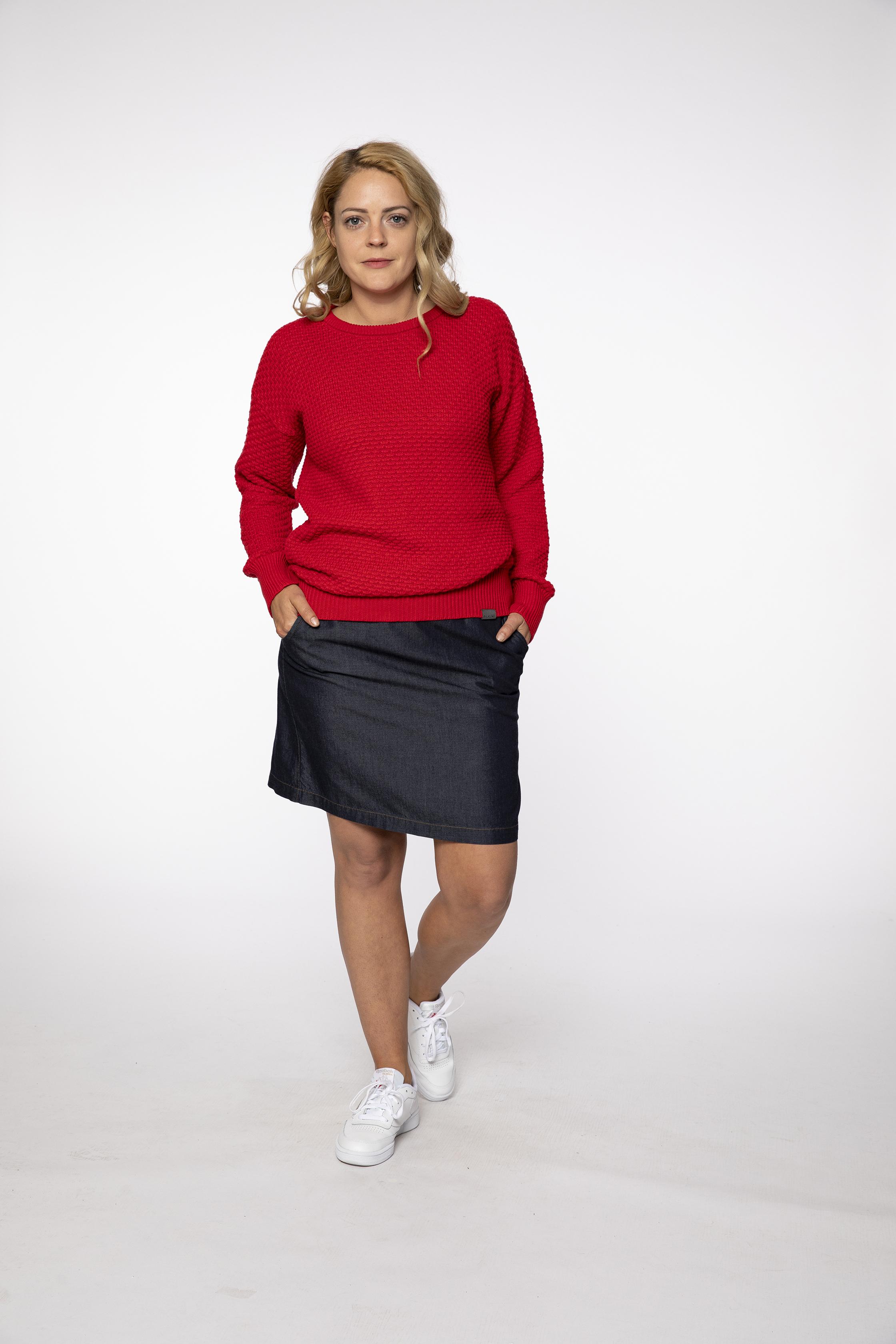 knit pullover:  PASSINGBY   skirt:  HAPPYGOLUCKY