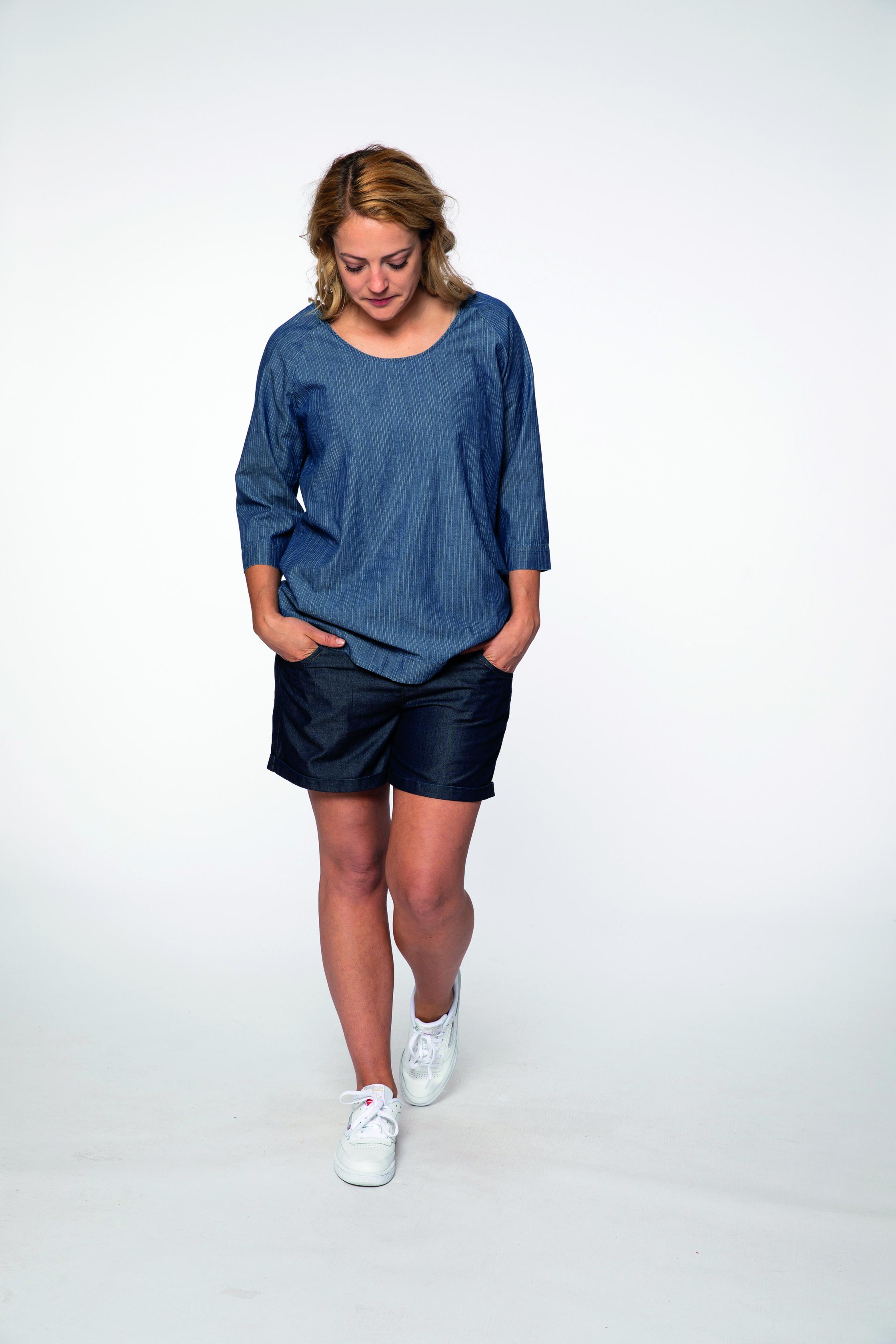 woven shirt:  DAYTIME   short pants:  TOOHOT