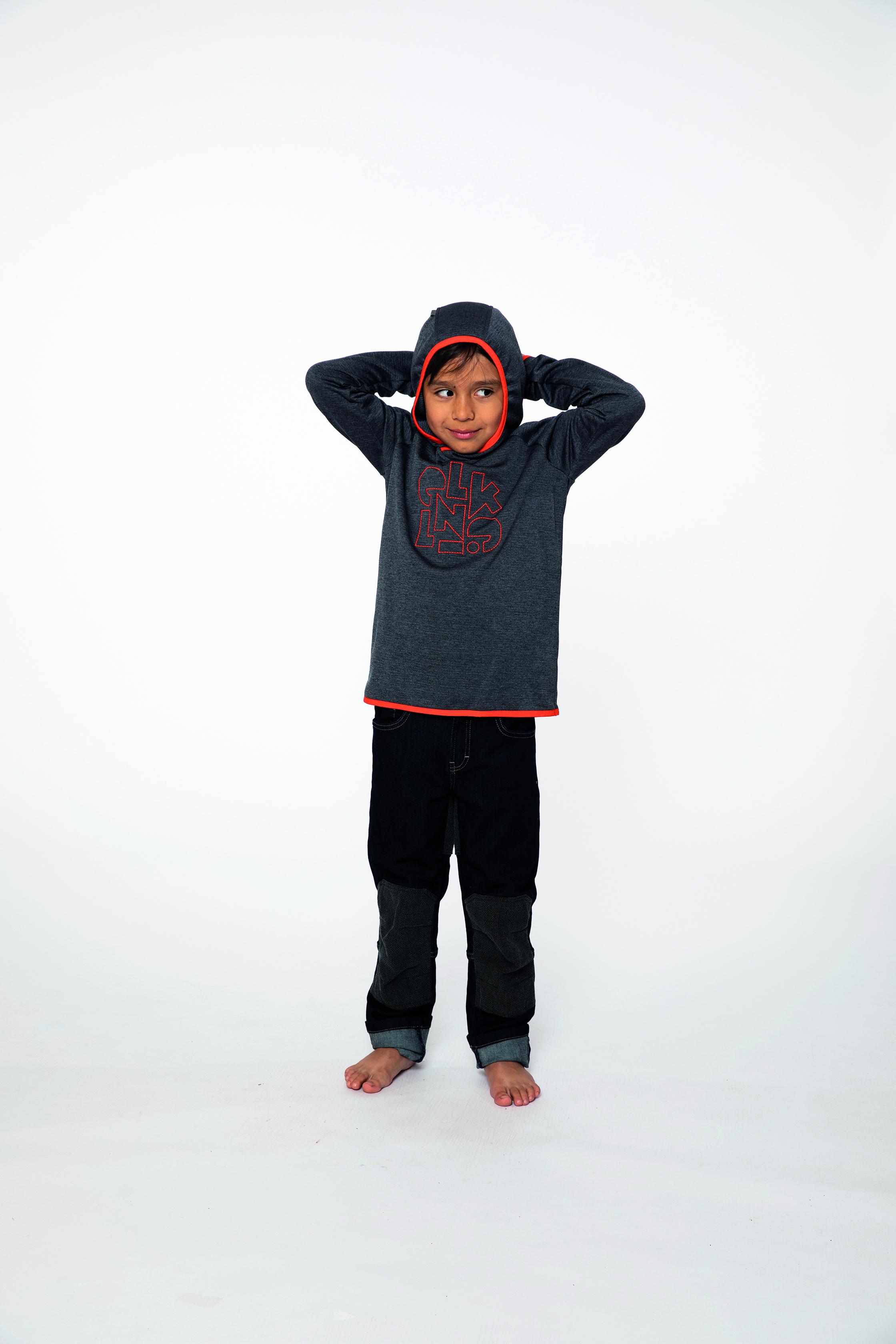 fleece pullover:  KIDDO   denim pants:  BESTBOY
