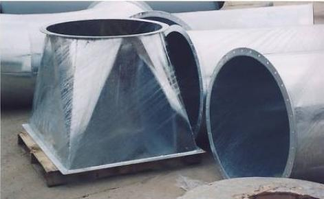 Galv. Transition and Galv. Round Duct