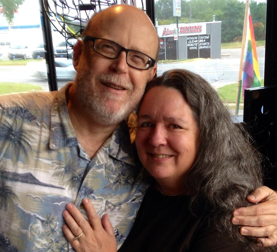 Celebrating marital equality in Iowa with my wife, Martha