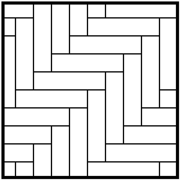 Right Diagonal Herringbone