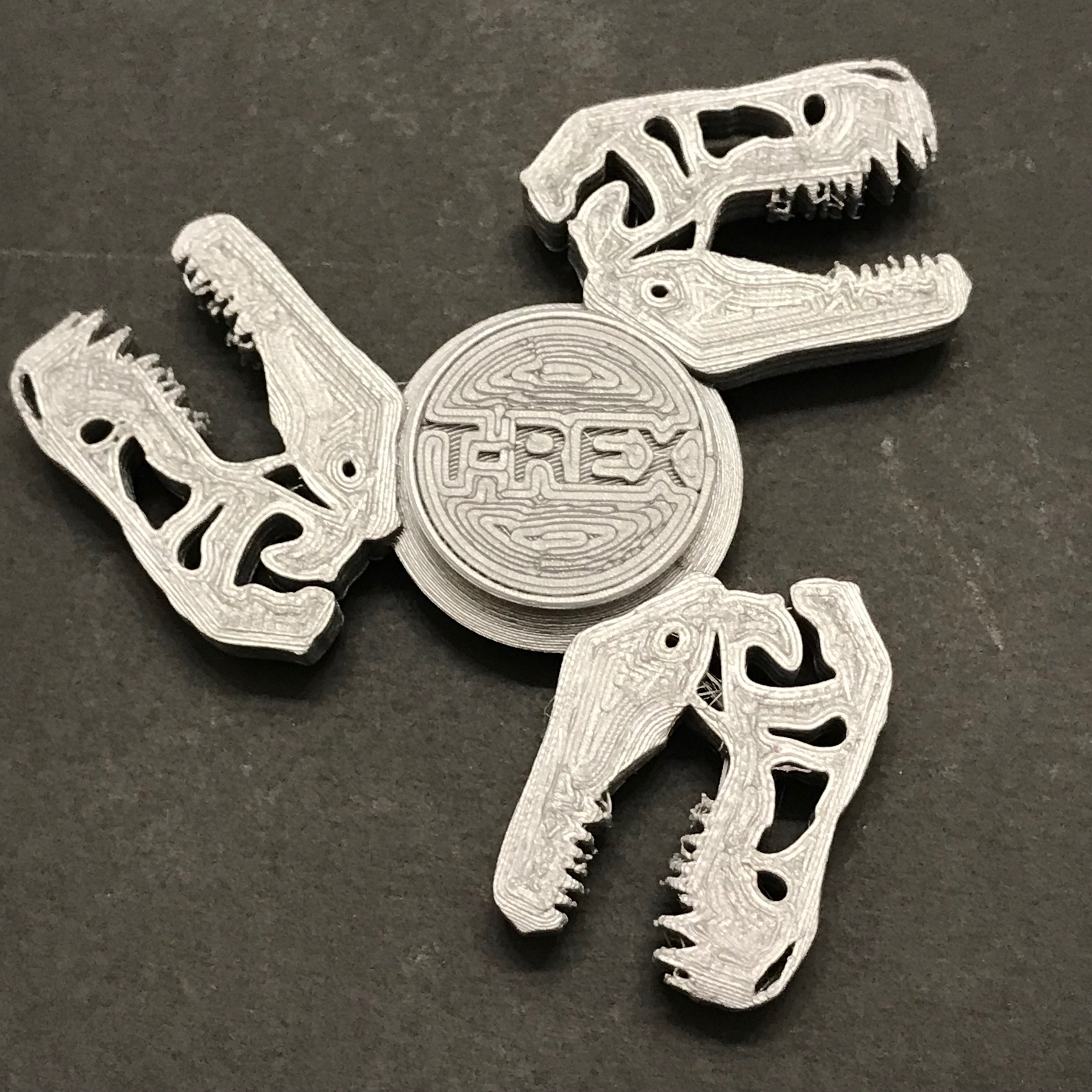 T-Rex Fidget Spinner - ThingiverseMade in 2018