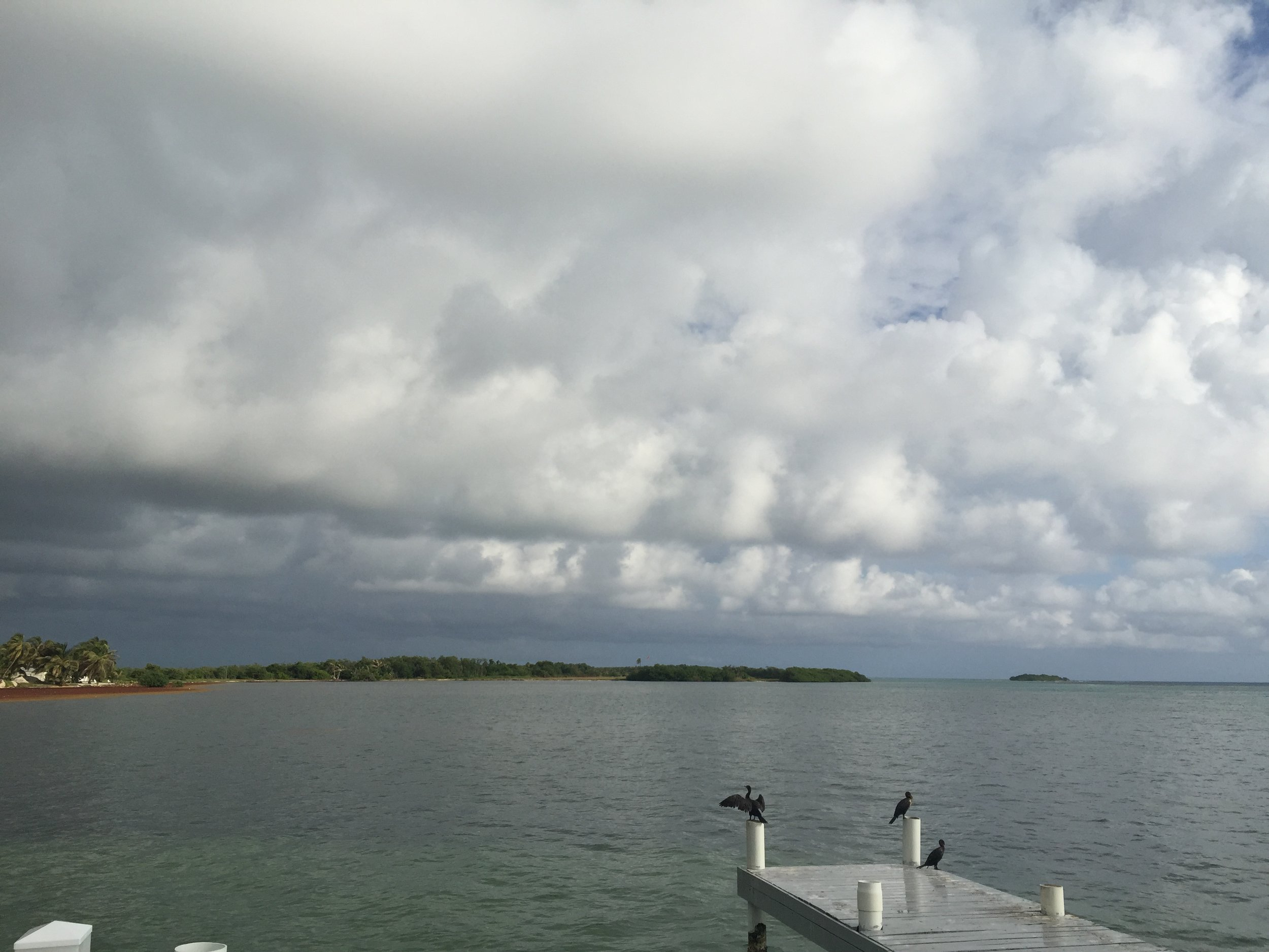 Cloudy day on Turneffe Atoll, Belize