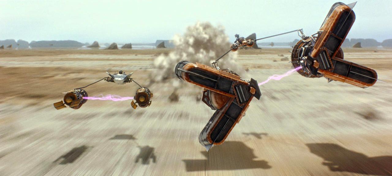 Anakin vs Sebulba in the Boonta Eve Classic on Tatooine!