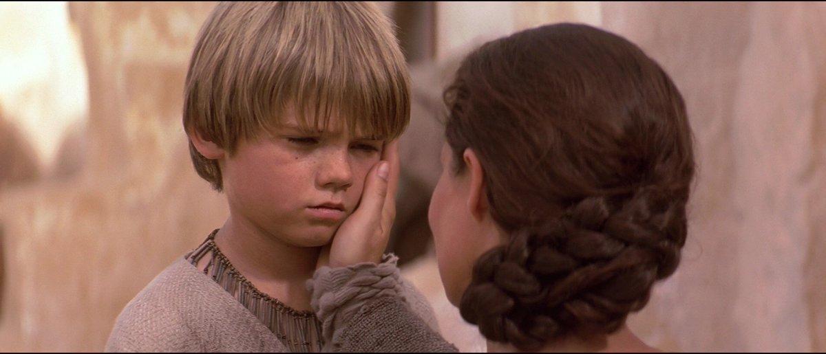 Anakin says goodbye to his mother, Shmi Skywalker.