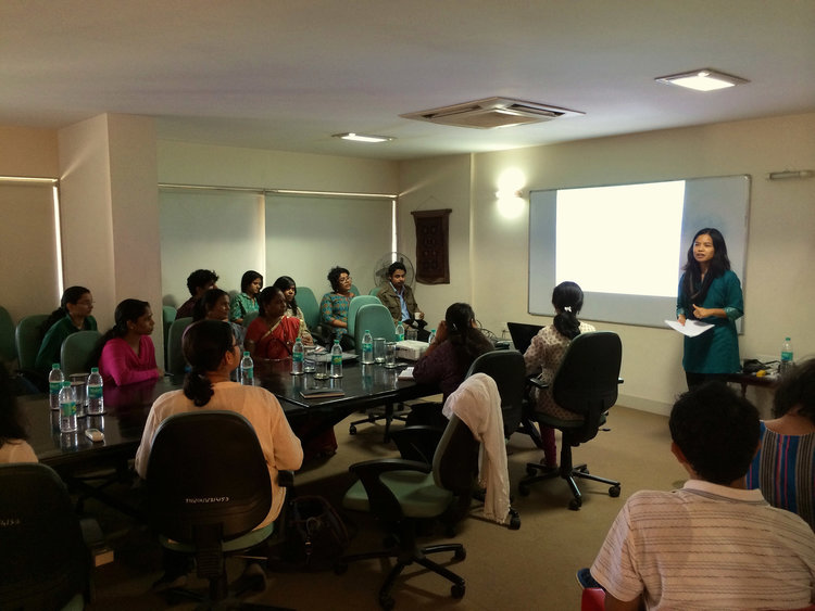 Dr. Deomampo lecturing at Tata Institute of Social Sciences, Mumbai