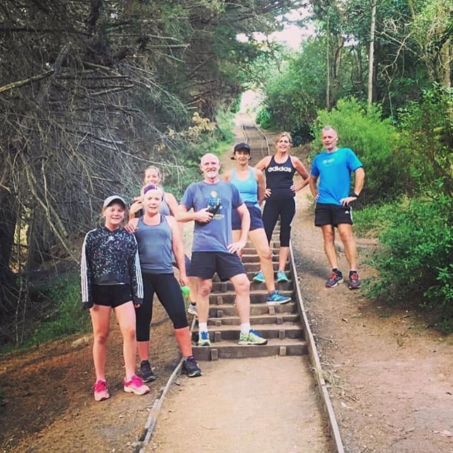 Awesome effort on the stair repeats today team. Strong group today. Good to get out of your comfort zone 💪🏽.