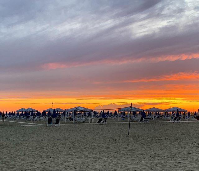 Sunset on the beach in Viareggio, my favorite part of Italy so far.