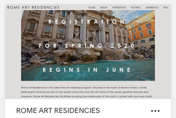 RomeArtResidencies.com - Founded by Brian and organized with colleagues, these courses take place in Rome. Click the link for more information.