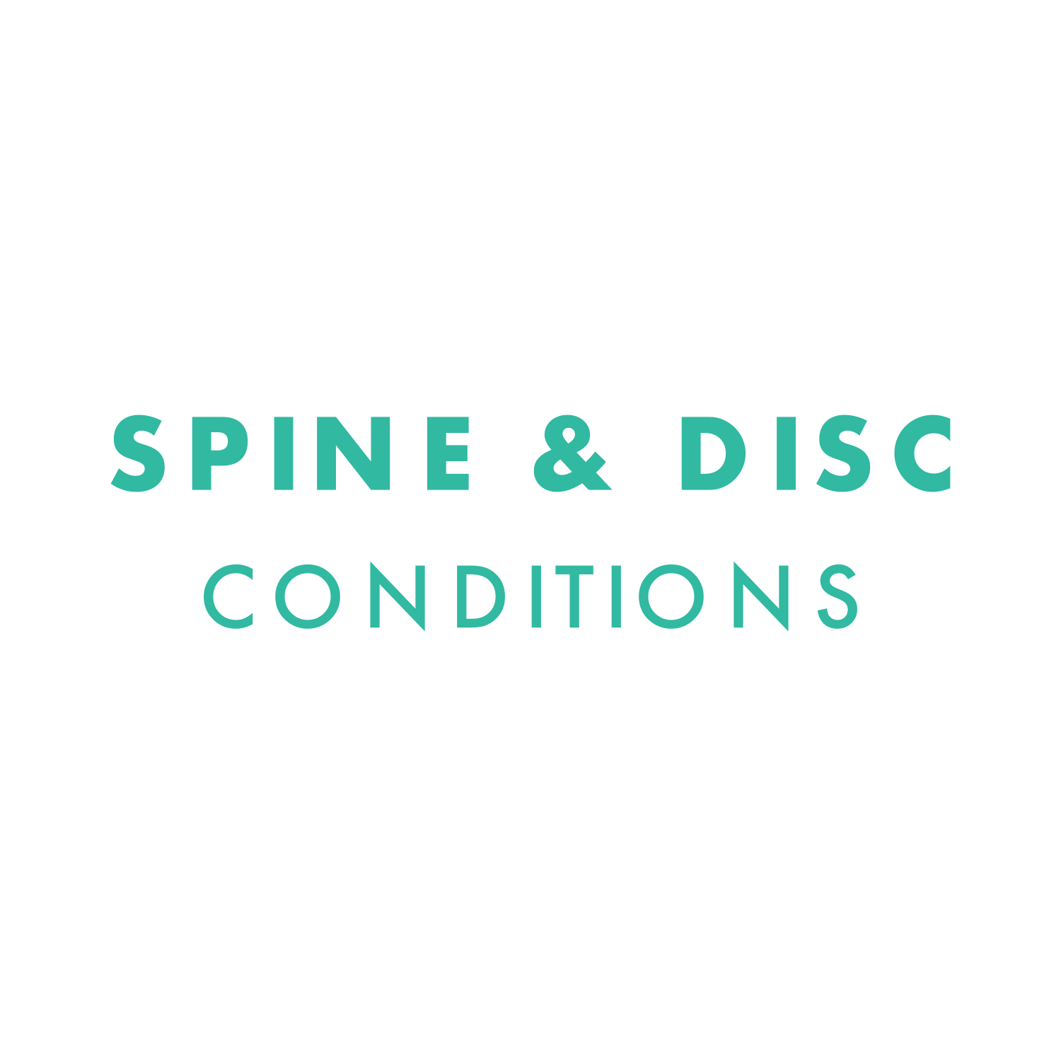 Spine & Disc Conditions
