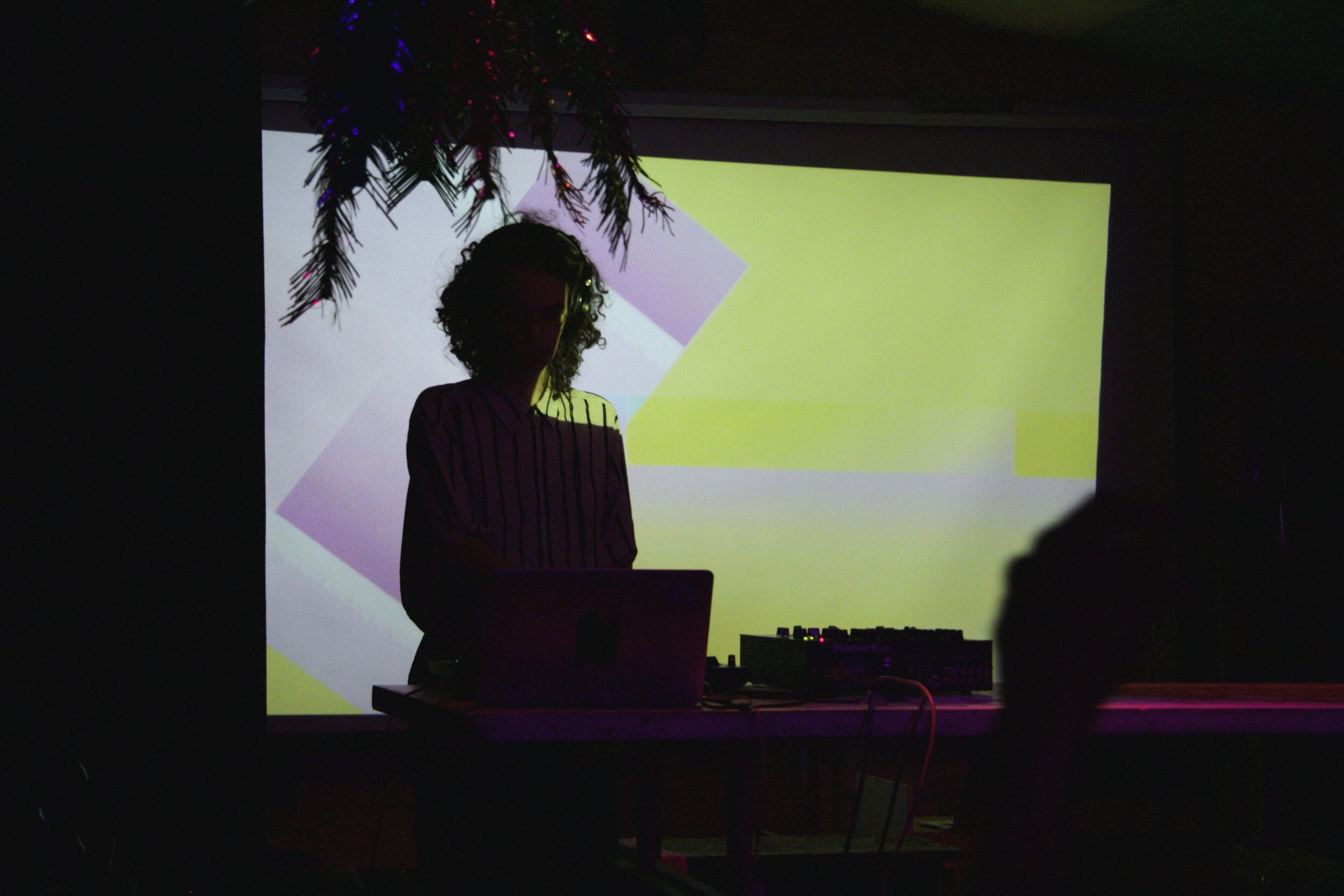 Photo of some visuals that I provided for the  MURMURS Fundraiser  on September 21 at  Raumerweiterungshalle  in Berlin.
