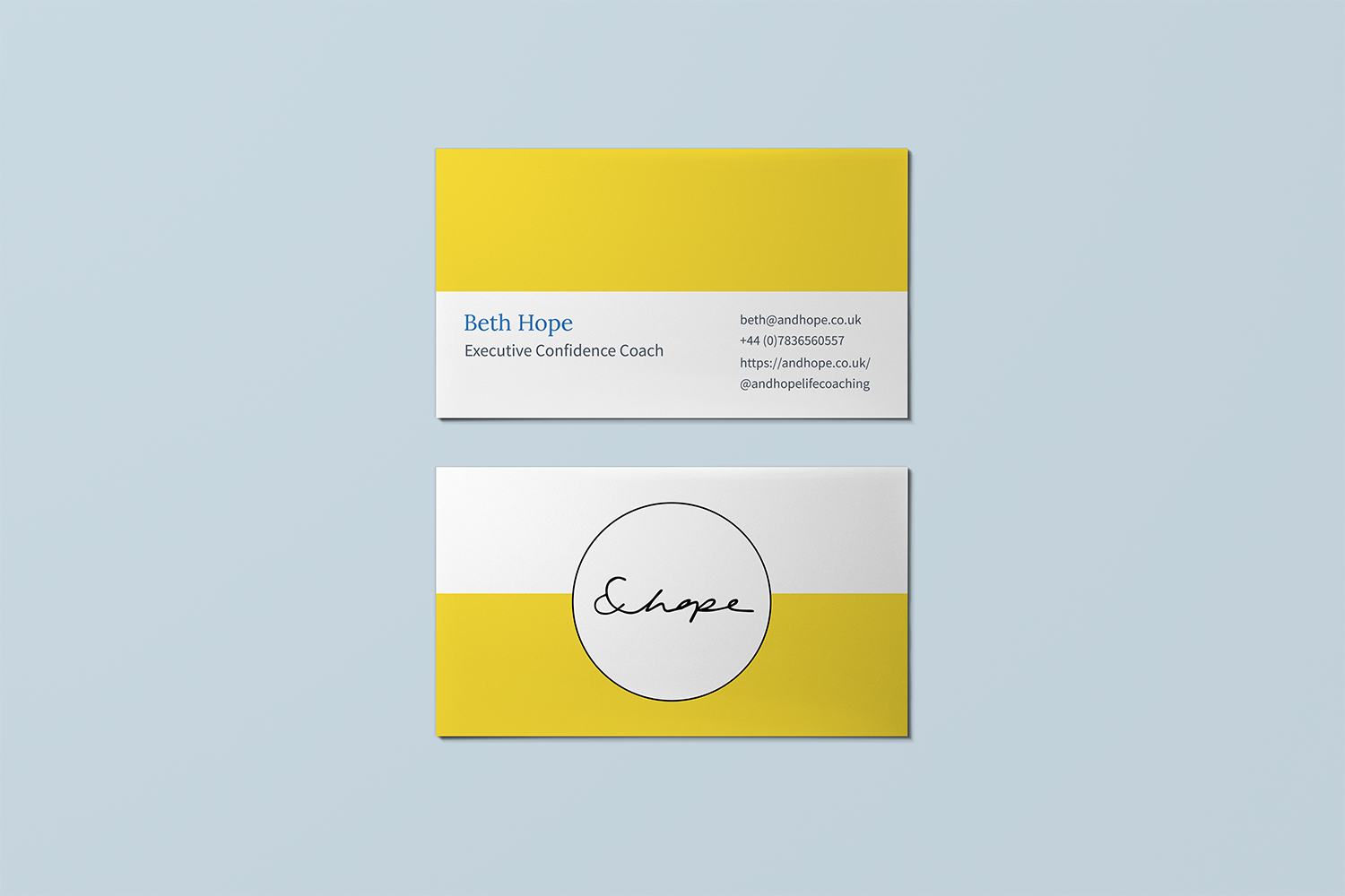 &hope coaching branded website- business cards - Eva B.