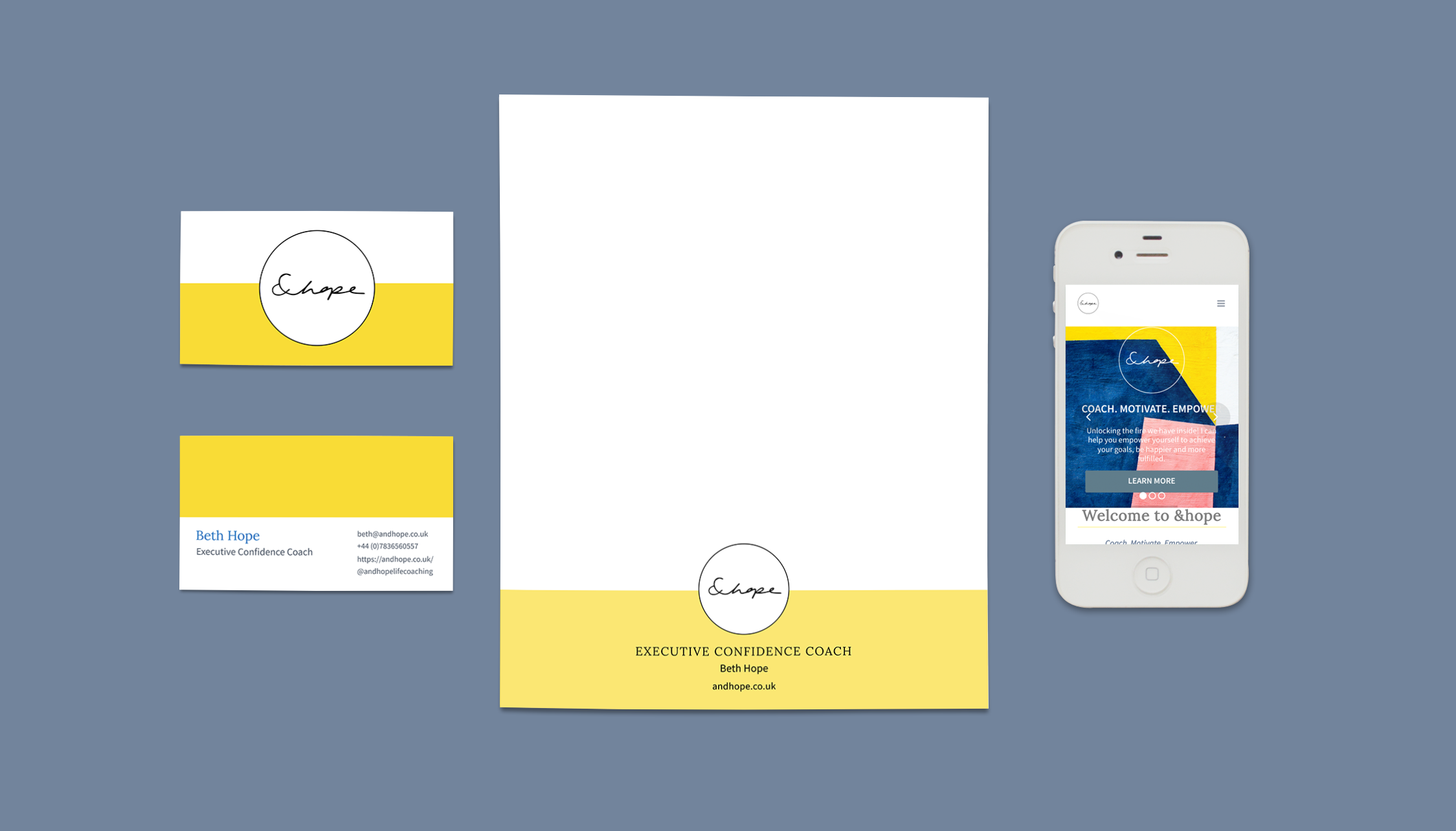 &hope-stationary & mobile of branded website- Eva B.
