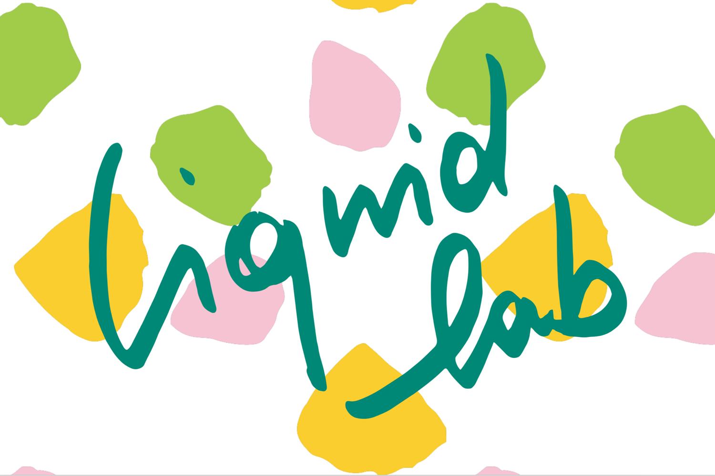 Liquid Lab juice; branding and web design - logo - Eva B.