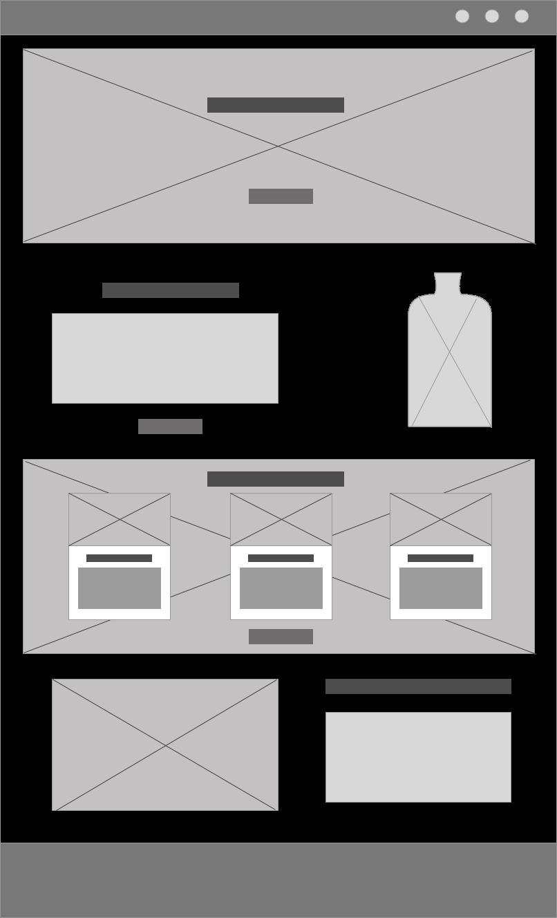 Liquid Lab juice; branding and web design - wireframes digital - Eva B.