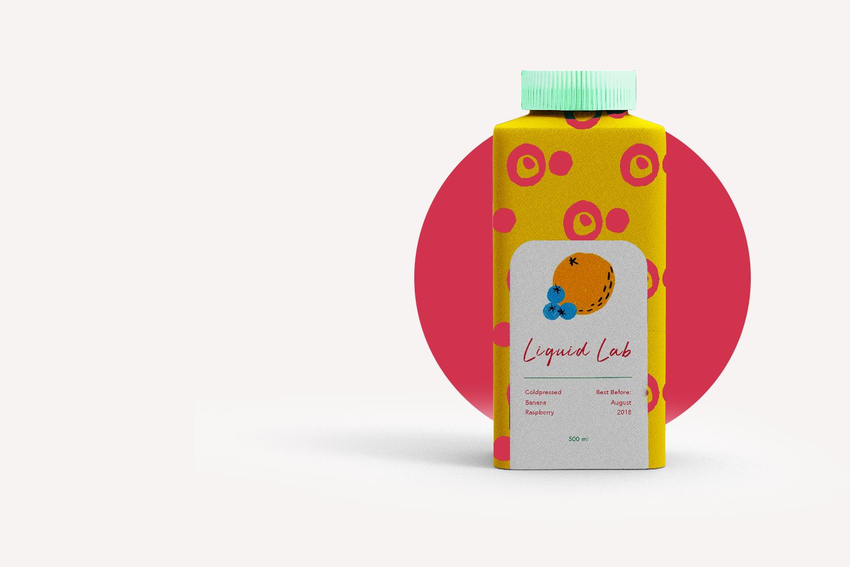 Liquid Lab juice; branding and web design - drink booster - Eva B.