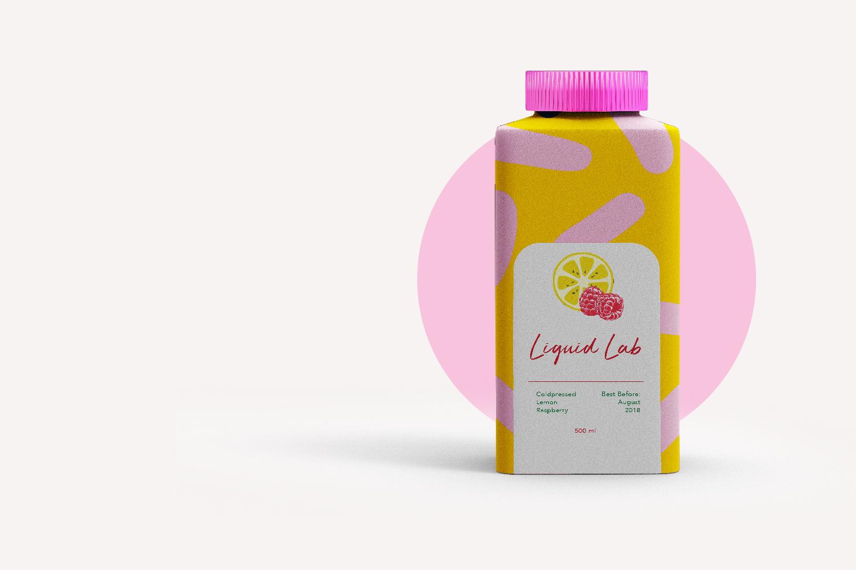 Liquid Lab juice; branding and web design - drink newbie - Eva B.