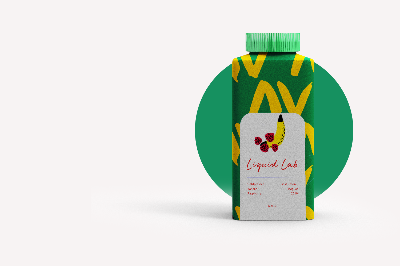 Liquid Lab juice; branding and web design - drink DIY - Eva B.