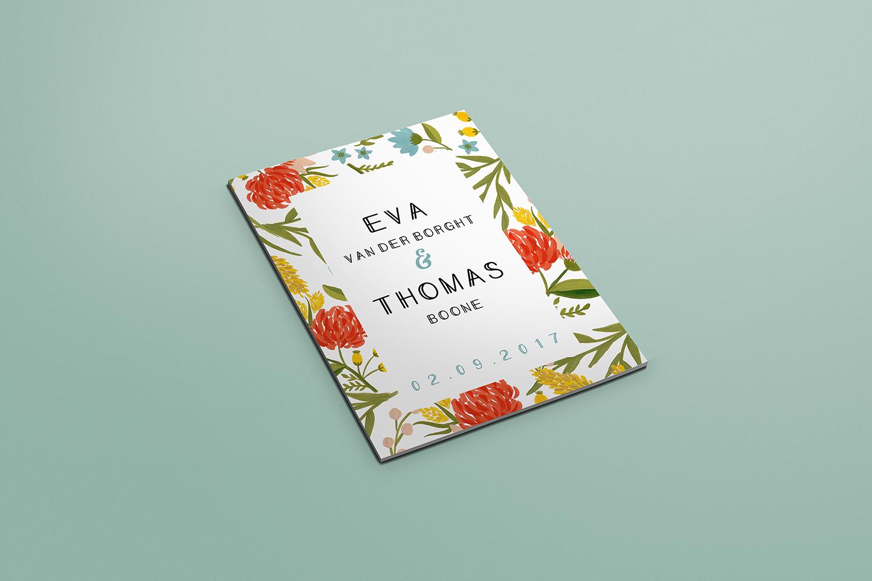 Wedding invitation and stationary floral design - Eva B.