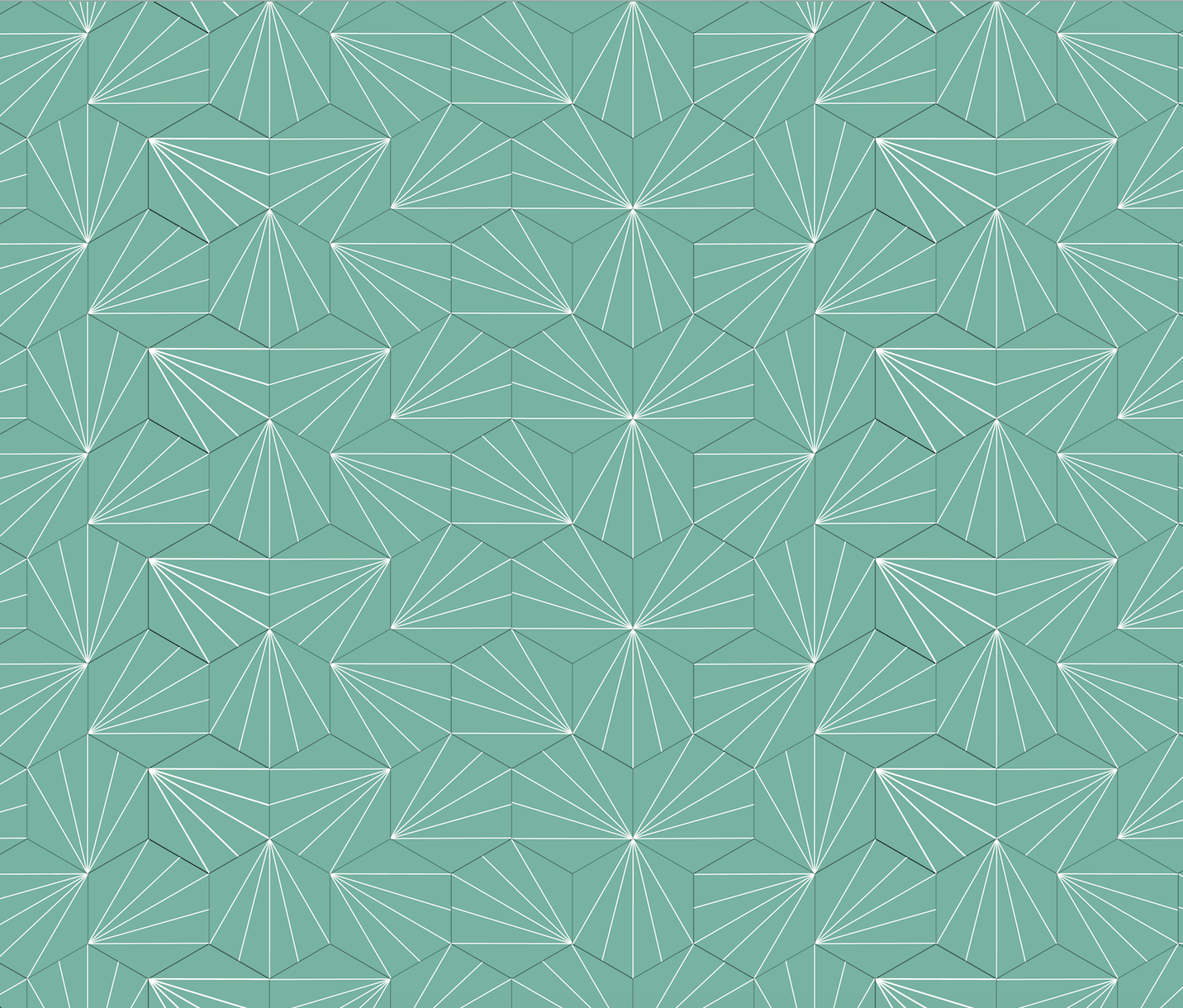 Patterns design - white tropical leaves on green background tilework design