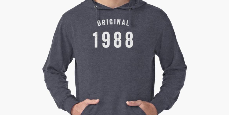 Tshirt design on redbubble - 1988 original