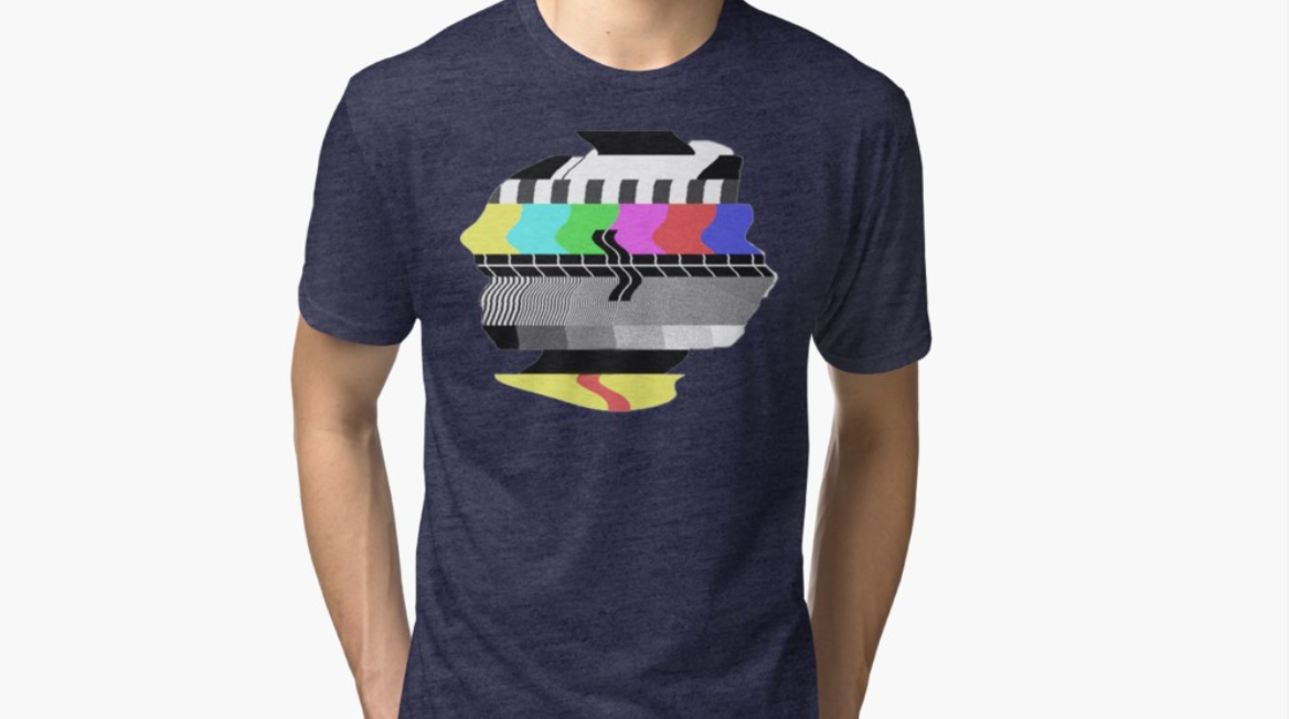 Tshirt design on redbubble - PM445 test screen from old tv