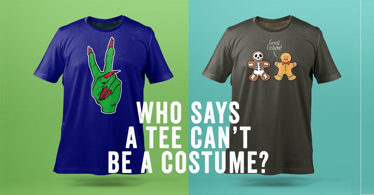 Halloween facebook ad for halloween designed tshirts