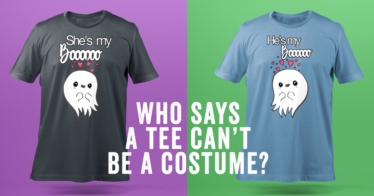 Halloween designed tshirts - (s)he's my boo ghost in love